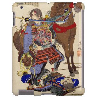 Ukiyo-e Painting Of A Samurai Biting A Sword