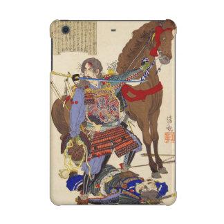 Ukiyo-e Painting Of A Samurai Biting A Sword iPad Mini Cases