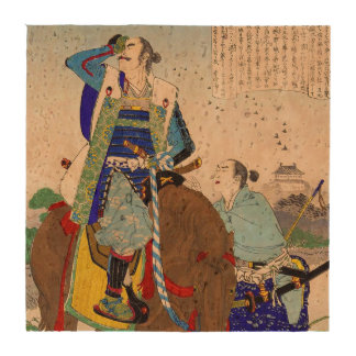 Ukiyo-e Painting Of A Samurai Face Palming Drink Coaster