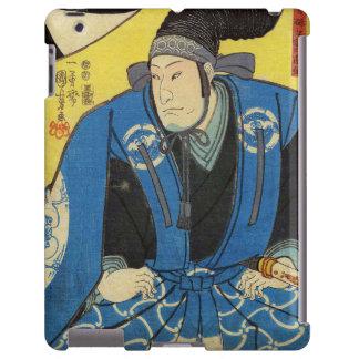 Ukiyo-e Painting Of A Samurai In Yellow Background