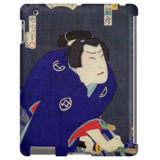 Ukiyo-e Painting Of A Samurai Wearing Blue Kimono