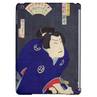 Ukiyo-e Painting Of A Samurai Wearing Blue Kimono iPad Air Case