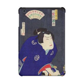 Ukiyo-e Painting Of A Samurai Wearing Blue Kimono iPad Mini Case