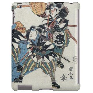 Ukiyo-e Painting Of Three Samurais In Kabuki Show
