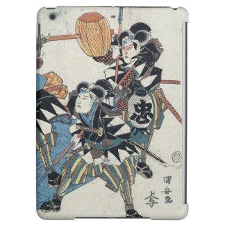 Ukiyo-e Painting Of Three Samurais In Kabuki Show iPad Air Case