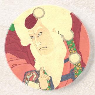 Ukiyo-e Santa Claus Beverage Coaster