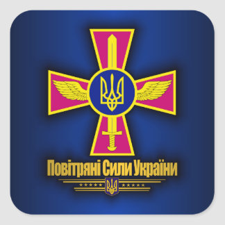 Ukraine Air Force Square Sticker