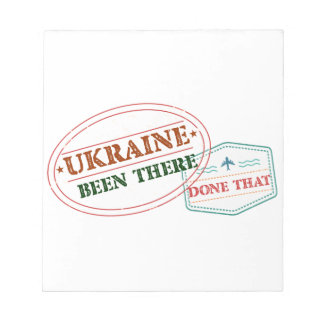 Ukraine Been There Done That Notepad