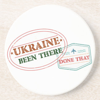 Ukraine Been There Done That Sandstone Coaster