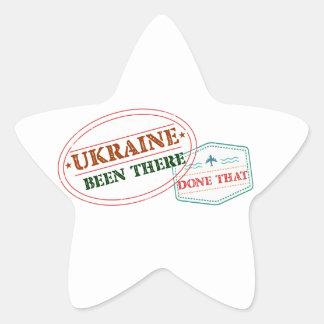 Ukraine Been There Done That Star Sticker