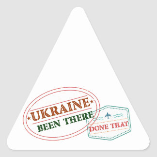 Ukraine Been There Done That Triangle Sticker