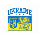 Ukraine Coat of Arms Post Cards
