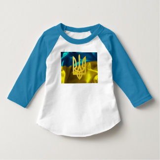 Ukraine Flag and Tryzub Toddler Raglan shirt