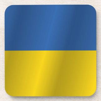 Ukraine flag beverage coaster