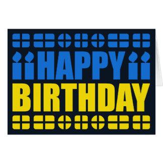 Ukraine Flag Birthday Card