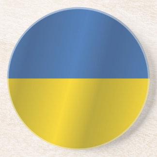 Ukraine flag drink coasters