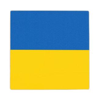 Ukraine Flag Maple Wood Coaster