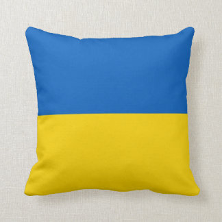 Ukraine Flag on American MoJo Pillow