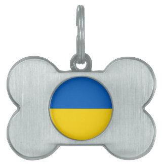 Ukraine Flag Pet Tag