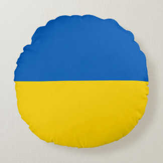 Ukraine Flag Round Cushion