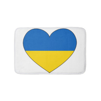 Ukraine Flag Simple Bath Mats