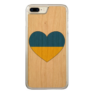 Ukraine Flag Simple Carved iPhone 8 Plus/7 Plus Case