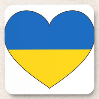 Ukraine Flag Simple Coaster