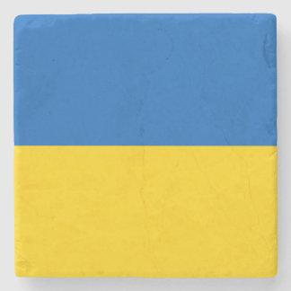 Ukraine Flag Stone Beverage Coaster