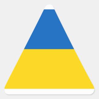 Ukraine Flag Triangle Sticker