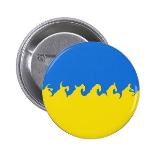 Ukraine Gnarly Flag Buttons
