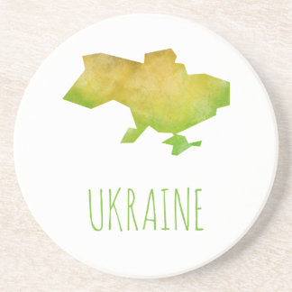 Ukraine Map Drink Coasters