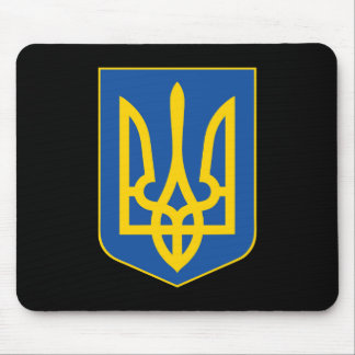 Ukraine national emblem country symbol flag mouse pad