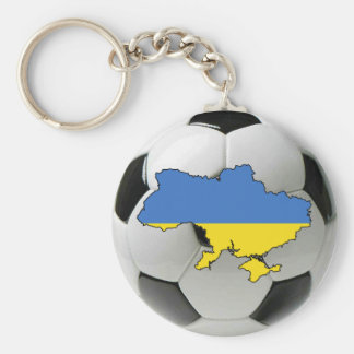 Ukraine national team basic round button key ring