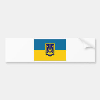 Ukraine President at sea Flag Bumper Sticker