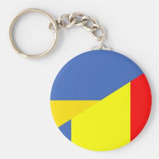 ukraine romania flag country half symbol key ring