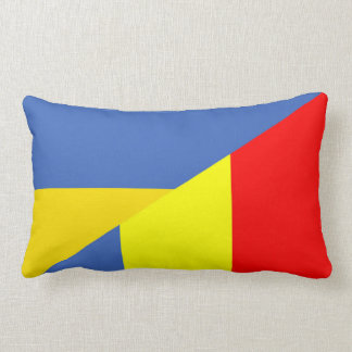 ukraine romania flag country half symbol lumbar cushion