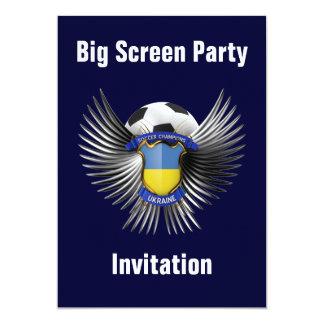Ukraine Soccer Champions 13 Cm X 18 Cm Invitation Card