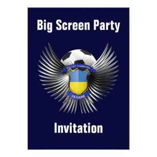Ukraine Soccer Champions Custom Invites