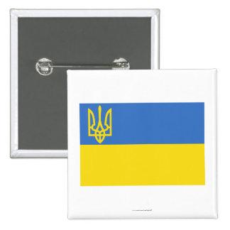 Ukraine Traditional Flag 15 Cm Square Badge