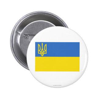 Ukraine Traditional Flag 6 Cm Round Badge
