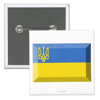 Ukraine Traditional Flag Jewel 15 Cm Square Badge