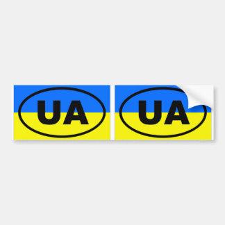 Ukraine UA European oval Bumper Sticker