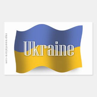 Ukraine Waving Flag Rectangular Sticker