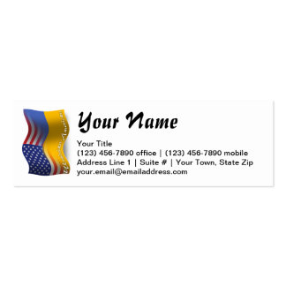 Ukrainian-American Waving Flag Pack Of Skinny Business Cards