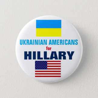 Ukrainian Americans for Hillary 2016 6 Cm Round Badge