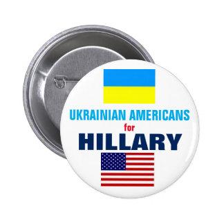 Ukrainian Americans for Hillary 2016 6 Cm Round Badge