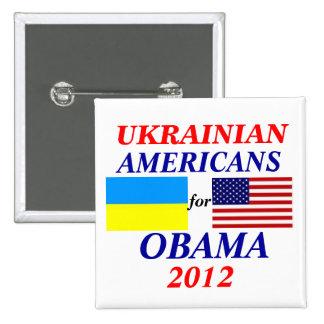 Ukrainian americans for Obama 15 Cm Square Badge
