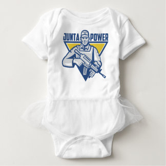 Ukrainian Army Junta Power Baby Bodysuit