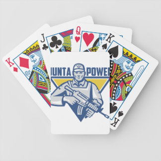 Ukrainian Army Junta Power Bicycle Playing Cards