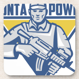 Ukrainian Army Junta Power Drink Coasters
